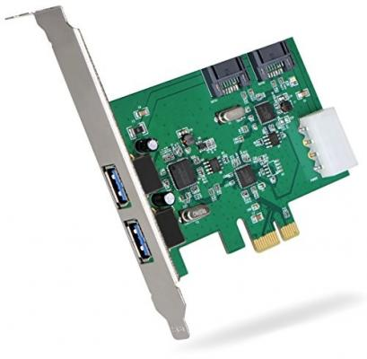 Контроллер PCI-E Orient VA-3U2SA2PE USB3.0 контроллер orient a1061s sata 3 2 ext 2 in port asmedia asm1061 pci e v 2 0 ret