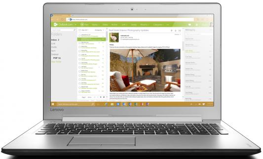 Ноутбук Lenovo IdeaPad 510-15IKB 15.6 1920x1080 Intel Core i5-7200U 80VC0009RK lenovo ideapad 510 15ikb 15 6 intel
