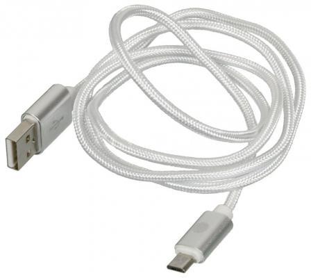 Кабель microUSB 1м Cactus CS-ACSC09 круглый кабель lightning 1м wiiix круглый cb120 u8 10b