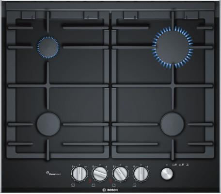 Варочная панель газовая Bosch PRP6A6N70R черный варочная панель bosch pkf651fp1e