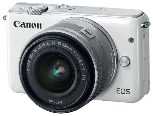 Фотоаппарат Canon EOS M10 15-45IS STM белый фотоаппарат canon eos m10 black