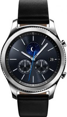Смарт-часы Samsung Galaxy Gear S3 classic SM-R770 1.3 Super AMOLED серебристый SM-R770NZSASER genuine leather watch band 22mm for samsung gear s3 classic frontier stainless steel butterfly clasp strap wrist belt bracelet