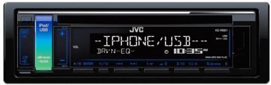 Автомагнитола JVC KD-R681 USB MP3 CD FM 1DIN 4x50Вт черный