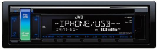 Автомагнитола JVC KD-R681 USB MP3 CD FM 1DIN 4x50Вт черный автомагнитола kenwood kmm 103gy usb mp3 fm 1din 4х50вт черный