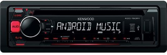 Автомагнитола Kenwood KDC-151RY USB MP3 CD FM 1DIN 4х50Вт черный автомагнитола kenwood kdc 151ry usb mp3 cd fm 1din 4х50вт черный