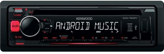 Автомагнитола Kenwood KDC-151RY USB MP3 CD FM 1DIN 4х50Вт черный автомагнитола kenwood kdc 151ry