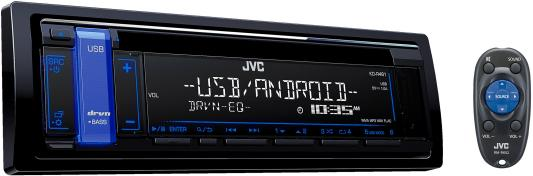 Автомагнитола JVC KD-R481 USB MP3 CD FM 1DIN 4x50Вт черный