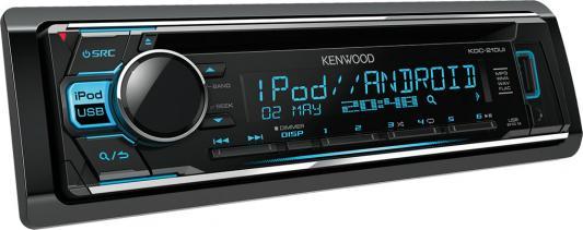 Автомагнитола Kenwood KDC-210UI USB MP3 CD FM 1DIN 4х50Вт черный автомагнитола kenwood kdc 151ry usb mp3 cd fm 1din 4х50вт черный