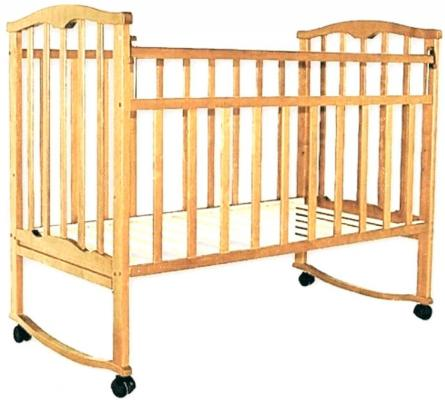 Кроватка-качалка Агат Золушка-1 (светлый)