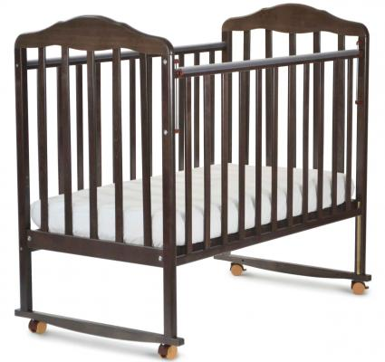 Кроватка-качалка СКВ Березка (венге/120118) кроватка скв березка 120119 бежевый