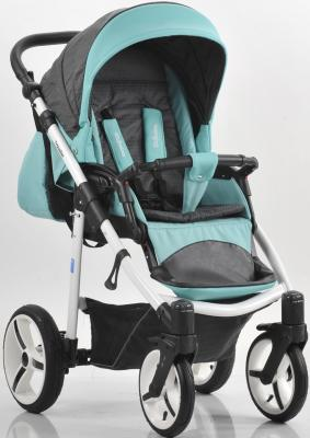 Прогулочная коляска Mr Sandman Traveler Premium (бирюзовый-графит в принт-бирюзовый/SL08) коляска прогулочная mr sandman traveler premium бирюзовый графит в принт бирюзовый kmstp 0610sl08