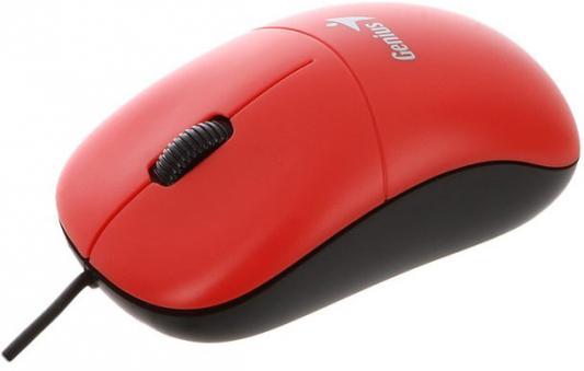 Мышь проводная Genius DX-135 красный USB мыши genius проводная оптическая мышь dx 130