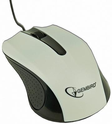 Мышь проводная Gembird MUS-101-W белый USB