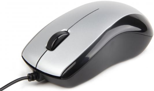 Мышь проводная Gembird MUS-U-002 чёрный серебристый USB цена 2017