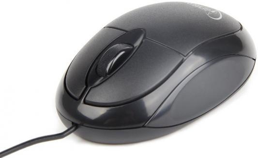 Мышь проводная Gembird MUS-U-001 чёрный USB