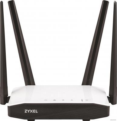 Беспроводной маршрутизатор Zyxel Keenetic Extra II 802.11aс 1167Mbps 2.4 ГГц 5 ГГц 4xLAN USB белый черный беспроводной маршрутизатор zyxel keenetic omni ii 802 11n 300мбит с 2 4ггц 4xlan wan usb
