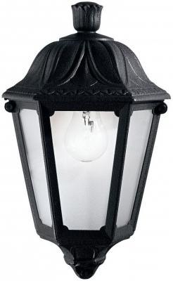 Уличный настенный светильник Ideal Lux Anna AP1 Small Nero бра ideal lux anna ap1 small 101552