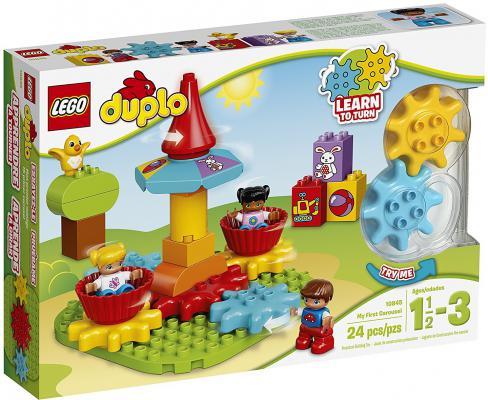 Конструктор LEGO Duplo Моя первая карусель 24 элемента 10845 lego lego duplo 10831 моя веселая гусеница