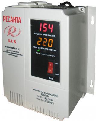 Стабилизатор напряжения Ресанта АСН-1000Н/1-Ц Lux 2 розетки