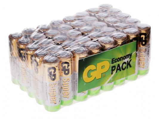 Батарейки GP Super Alkaline 1500 mAh LR6 40 шт GP 15A-B40 батарея gp 15a 2шт super alkaline aa