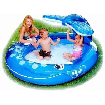 Надувной бассейн Intex Веселый кит 78257574353 надувной бассейн intex 57435 кит с фонтанчиком
