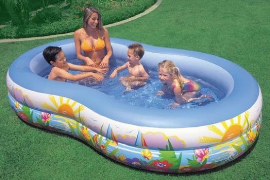 Надувной бассейн Intex Райская лагуна 262х160х46 см надувной бассейн intex бассейн надувной голубой