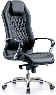 Кресло Бюрократ Aura/Black кожа черный