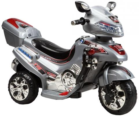 Мотоцикл эл. Shanghai Inter-World серебр, свет, mp3, аккум 6V/4.5AH,12 86093