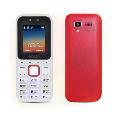 Мобильный телефон GINZZU M102D mini белый красный мобильный телефон ginzzu r1d красный