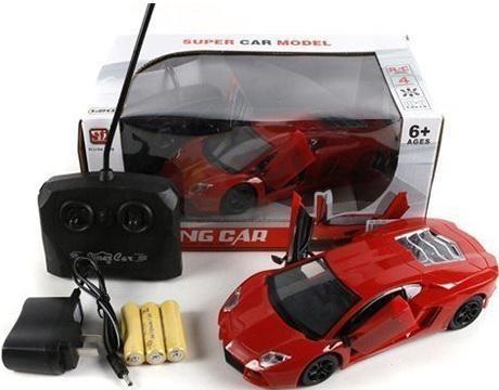 Машинка на радиоуправлении Shantou Gepai 4 канала, откр.двери красный от 6 лет пластик  894 машинка на радиоуправлении shantou gepai от 6 лет ассортимент пластик 1 16 4 канала 635367