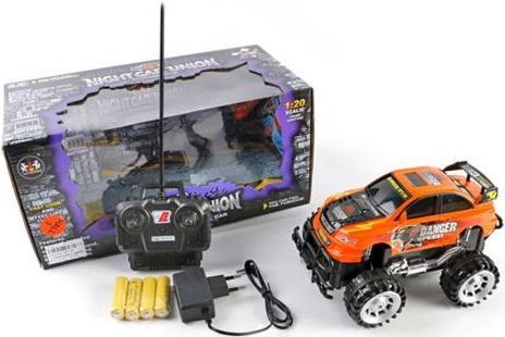 Машинка на радиоуправлении Shantou Gepai Джип 1:20, 4 канала пластик от 3 лет оранжевый машинка на радиоуправлении shantou gepai drift car ассортимент от 3 лет пластик 1 20 4 канала 2 вида 8010 1 8010 2
