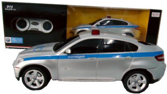 Полиция RASTAR BMW Х6 1:24 полицейская пластик от 6 лет серебристый