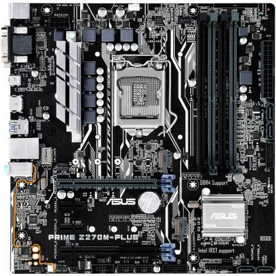 Материнская плата ASUS PRIME Z270M-PLUS Socket 1151 Z270 4xDDR4 2xPCI-E 16x 2xPCI-E 1x 4 mATX Retail 90MB0S50-M0EAY0 2pcs pair sunkia high bright car led drl car styling daytime running lights with fog lamp hole for toyota chr c hr 2016 2017