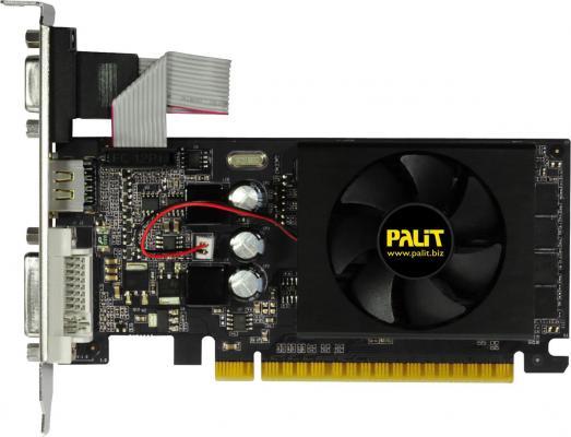Видеокарта 2048Mb Palit GeForce GT610 PCI-E D-Sub DVI HDMI NEAT6100HD46-1196F OEM