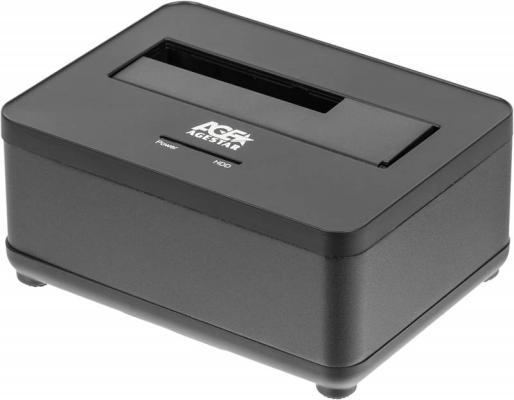 Док станция для HDD 2.5/3.5 SATA AgeStar 3UBT7 USB3.0 черный док станция для hdd agestar 3ubt3 6g черный