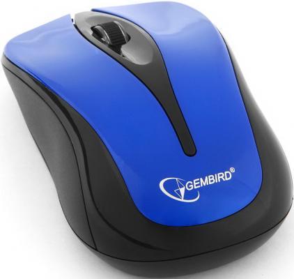 Мышь беспроводная Gembird MUSW-325-B Blue синий USB цена