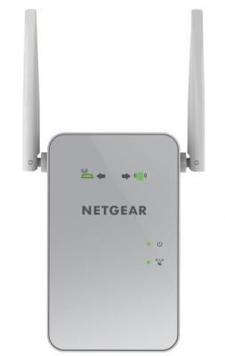 Купить Ретранслятор NetGear EX6150-100PES 802.11aс 1200Mbps 5 ГГц 2.4 1xLAN серый