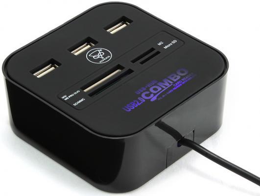 Картридер внешний Konoos UK-29 SD/miniSD/MMC/MicroSD/MS/MSPRO/M2/TF USB2.0