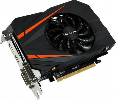 Видеокарта 6144Mb Gigabyte GeForce GTX1060 PCI-E 192bit GDDR5 DVI HDMI DP GV-N1060IX-6GD Retail видеокарта 1024mb palit geforce gt730 pci e dvi hdmi neat7300hd06 2080h retail