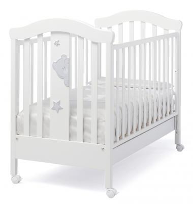 Купить Кроватка Erbesi Stellina (белый), бук, Кроватки без укачивания