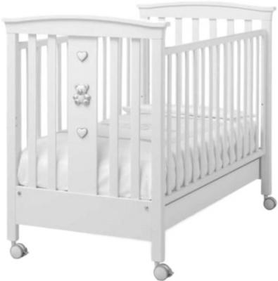 Купить Кроватка Erbesi Jolie (белый), бук, Кроватки без укачивания