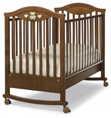 Кроватка-качалка Erbesi Amour (орех)