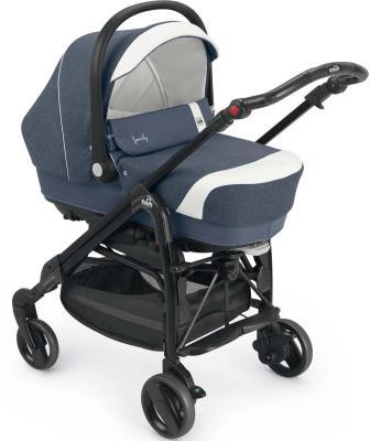 Коляска 3-в-1 Cam Comby Family (636/синий с белой полоской)
