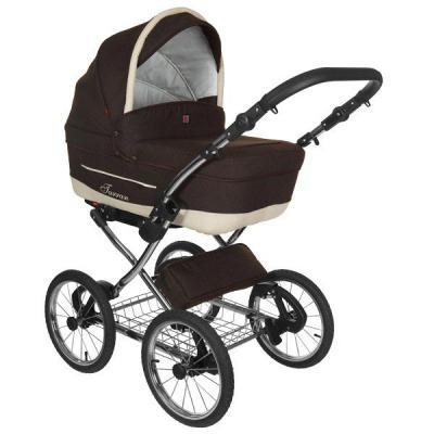 Коляска 2-в-1 Tutek Turran Silver (цвет ts3c/коричневый/шасси Prestige Silver) коляска детская tutek timer 2 в 1
