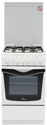 Комбинированная плита De Luxe 506040.00ГЭ (КР) Ч/Р белый комбинированная плита de luxe 506022 04гэ белый