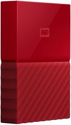 """Внешний жесткий диск 2.5"""" USB3.0 1 Tb Western Digital My Passport WDBBEX0010BRD-EEUE красный"""