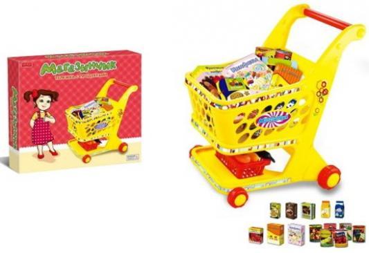 Игровой набор Shantou Gepai Магазинчик Тележка с продуктами 14 предметов