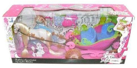 Купить Игровой набор Shantou Gepai Карета с куклой в ассортименте 689H, для девочки, Домики и аксессуары