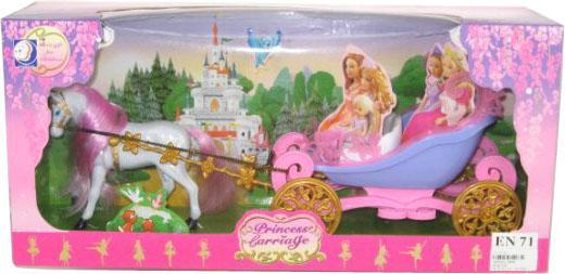 Игровой набор Shantou Gepai Карета с белой лошадью  689B