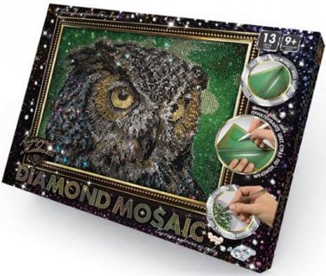 Набор креативного творчества ДАНКО-ТОЙС Diamond Mosaic - Сова от 9 лет набор креативного творчества данко тойс diamond mosaic котята от 9 лет dm 01 10